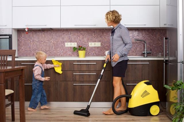 掃除をしながら英語